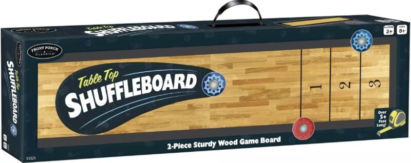 Table Top Shuffleboard Game High Quality Wooden Pub Style Family Fun Party 5 Ft.