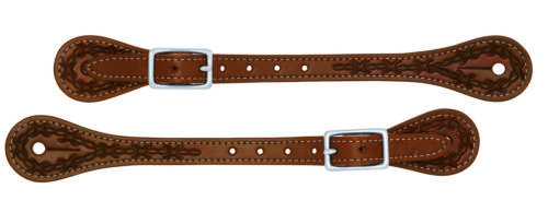 Weaver Leather Barbed Wire Thin Spur Straps, Stainless Steel Hardware, 30-1048