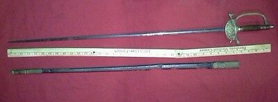 ANTIQUE EARLY 1800'S FRENCH HANGER SWORD RAPIER AND SCABBARD