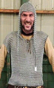 Hooded chainmaille shirt