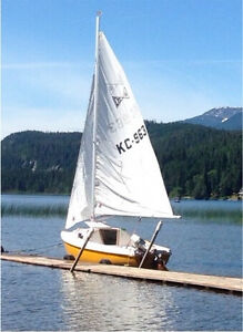 16 ft sailboat with motor and trailer