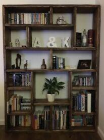 Hand made Rustic book shelf