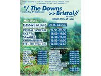 2 x Massive Attack Tickets, BRISTOL - Sat 3rd Sept 2016