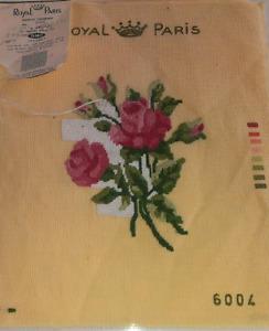Vintage Royal Paris Tapestry - Needlepoint Canvas - $15
