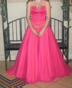 Pink prom dress and shoes