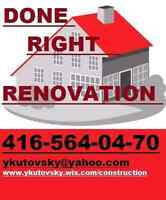 DONE RIGHT RENOVATIONS TILE SETTERS