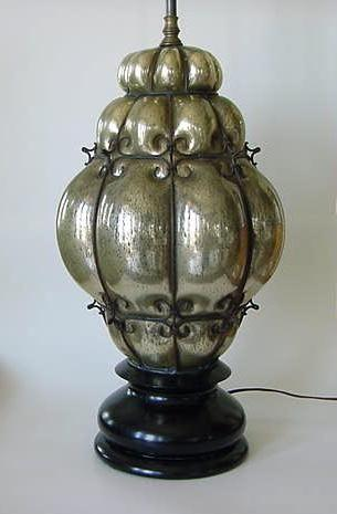 Vintage Mercury Glass Lamp Ebay