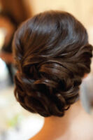 Professional wedding makeup and hair