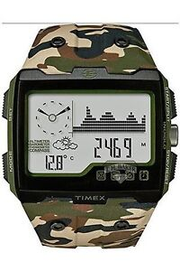 Timex WS4 Expedition Watch, Camoflage Band, 50 Meter WR, Wide Screen, T49840