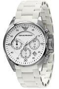 Ladies White Armani Watch