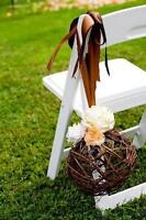 White resin chairs for event