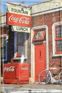 8 x 12 Inch- Retro Inspired Scene- Coca Cola Wall Art Tin Sign