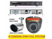 DVR SYSTEM PLUS 2 DOME AND 2 BULLET CAMERAS ALL CABLES ETC.