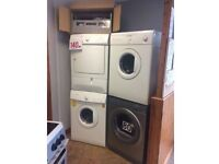 DRYERS CONDENSER AND VENTED WITH WARRANTY EX DISPLAY AND RECONDITIONED
