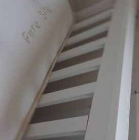 BED Frame - Single - New - With 'Pure Silk' Mattress (New)