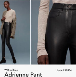 0163d929fe ARITZIA WILFRED FREE LEATHER PANT 100% new w  tag (size4 small)