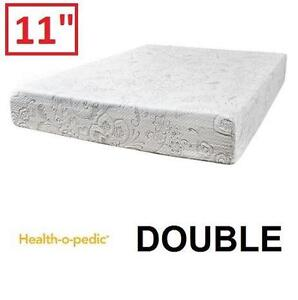 "NEW HEALTH-O-PEDIC MEMORY MATTRESS - 119440969 - DOUBLE 11"" GEL FOAM MATTRESSES BEDDING BED BEDS BEDROOM FURNITURE"
