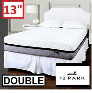 "NEW 12 PARK 13"" MEMORY MATTRESS - 120051035 - DOUBLE SMART TEMP FOAM MATTRESSES BED BEDS BEDDING BEDROOM FURNITURE"