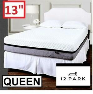 "NEW 12 PARK 13"" MEMORY MATTRESS 654-562 139169432 QUEEN SMART TEMP FOAM MATTRESSES BED BEDS BEDDING BEDROOM FURNITURE"