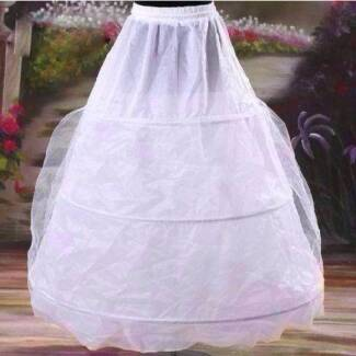 White 3 Hoop Layer Tulle Petticoat For Bridal Wedding Dresses Langford Gosnells Area Preview