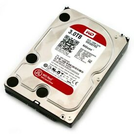 "Two desktop 3.5"" hard drives from Western Digital. (3TB & 2TB)"