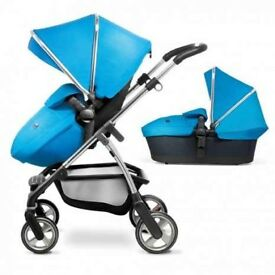 Silver cross wayfarer with seat and carrycot