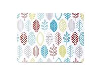 Leaf print placemats, coasters and glass worktop saver