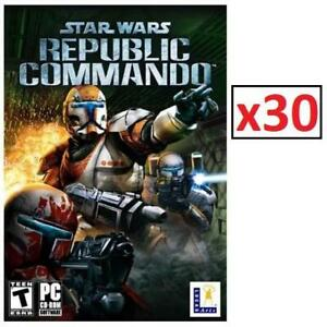 NEW 30PK PC STAR WARS GAMES 221934181 REPUBLIC COMMANDO PC STANDARD EDITION 1 CASE OF 30 GAME