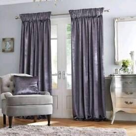 Dunelm mill monroe charcoal grey pencil pleat curtains