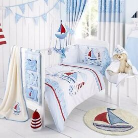 Nautical bumper and duvet set