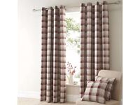 Balmoral red check curtains 167x182