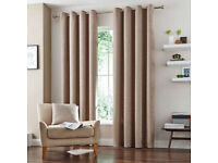 Immaculate Lined Eyelet Curtains