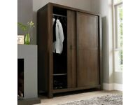 Lyon Walnut Triple Sliding Door Wardrobe - ex-display - RRP £1500 - can deliver locally for free