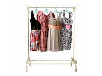Dunelm vintage clothes hanging rail