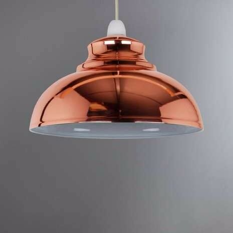 2x light shades dunelm appleton copper galley pendant. Black Bedroom Furniture Sets. Home Design Ideas