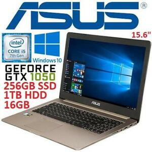 RFB ASUS VIVOBOOK NOTEBOOK PC M580VD-EB76 245369670 15.6 I7-7700HQ GTX 1050 16GB DDR4 RAM 256GB SSD 1TB HDD WIN10 RE...