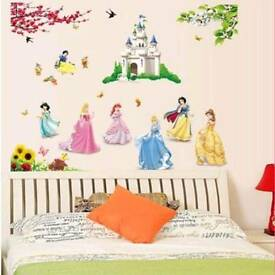 Disney Elsa Princess Wall Art Vinyl Sticker Kids Bedroom Decal Waterproof Castle Nursery Large