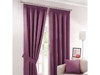 2 pairs of purple curtains 168cmx228cm