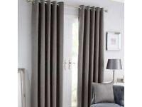 Dunelm silver grey curtains 66x90 eyelet VGC