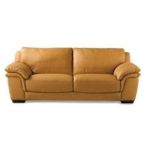 Authentic Natuzzi Leather Couch (  love seat and chair)