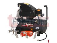 SEALEY SAC2420EPK COMPRESSOR 24 LITRE DIRECT DRIVE 2HP + 4PC AIR KIT