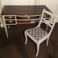 Refinished desk and chair