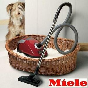 USED MIELE COMPACT CAT/DOG VACUUM Compact C2 142568531 C2 PETS CANISTER MANGO RED