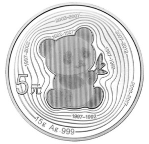 35th Anniversary Commemorative Chinese Silver Panda Coin