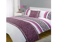 Stunning lepard print 5 peice set doubble bedding £29 king bedding £31 including postage