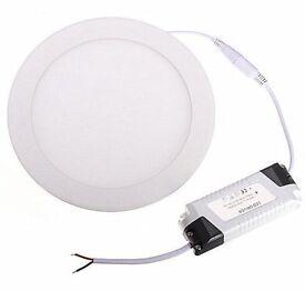 18W 22CM Dia. LED Round Recessed Ceiling Flat Panel Light Ultra Slim Cool White