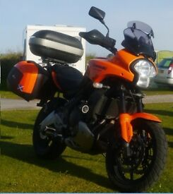 a 2009 Kawasaki kle versys 650cc , 13000 mls, mot till may 2017