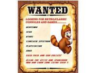 Wanted Retro Gaming items