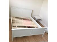 King Size bed, white, very good condition