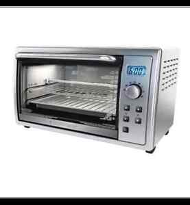 Black & Decker Kitchen Tools Digital Toaster Oven, 6-slice, Bran